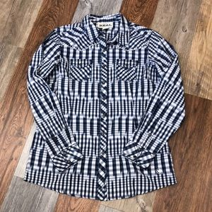 Ariat western button down shirt size Large